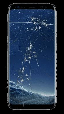 Samsung Galaxy S8 - rozbité sklo