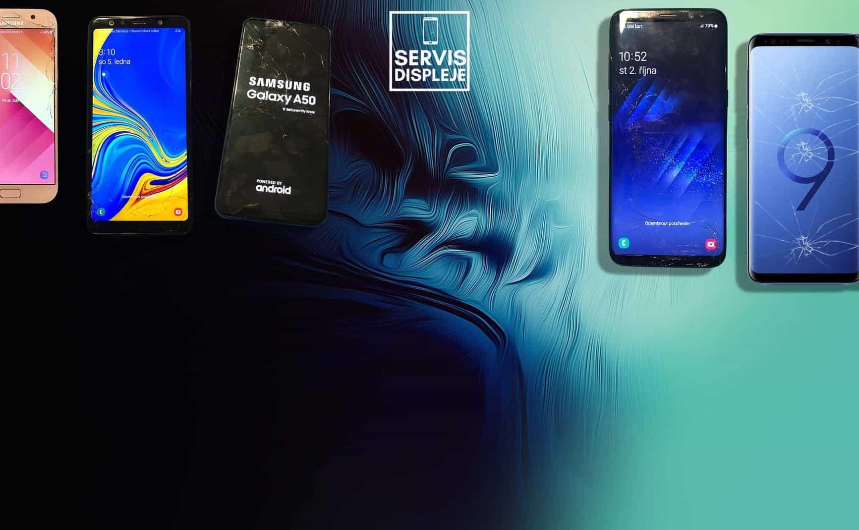 servisdispleje - výměna skla displeje - repasování displeje Samsung