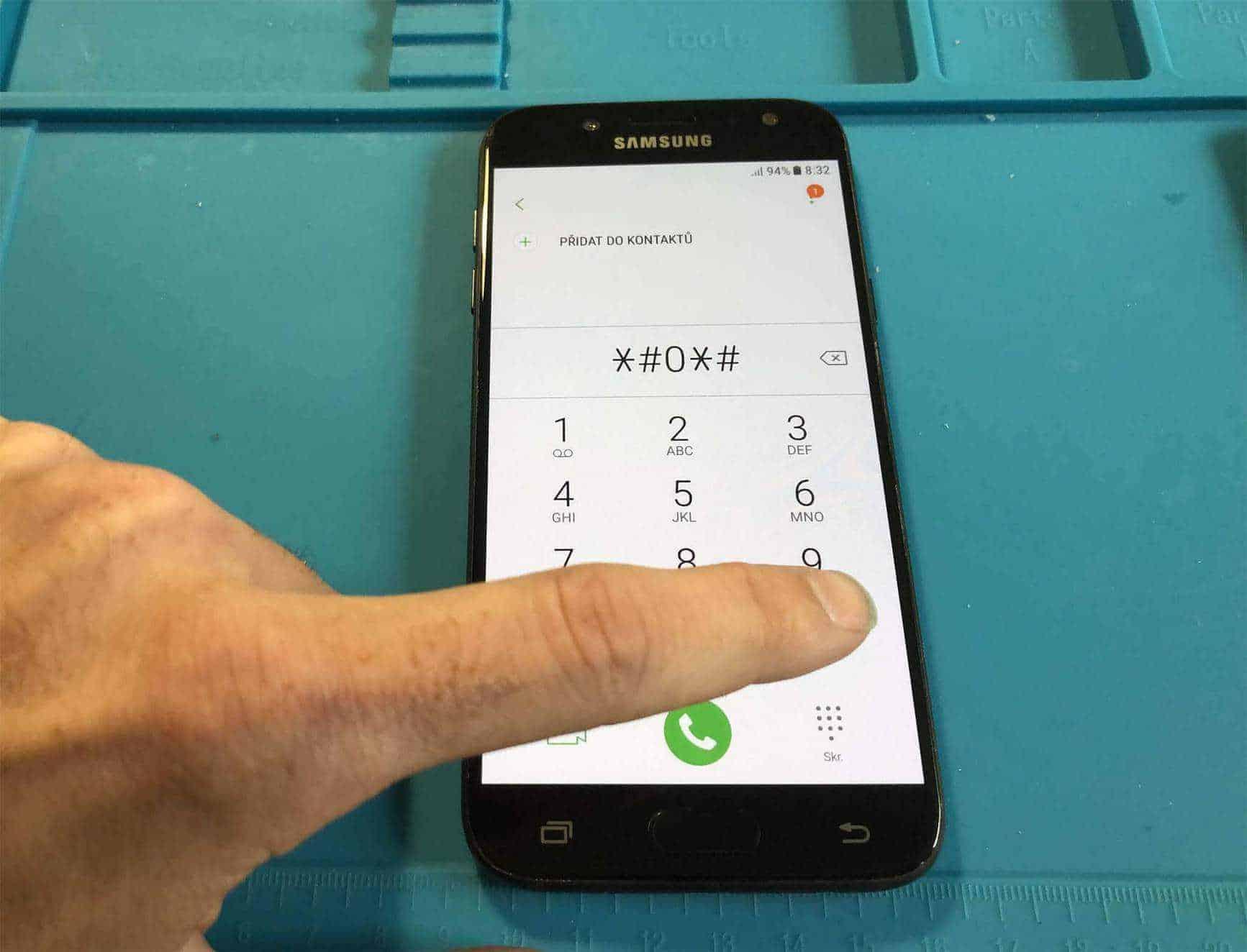 Test displeje Samsung