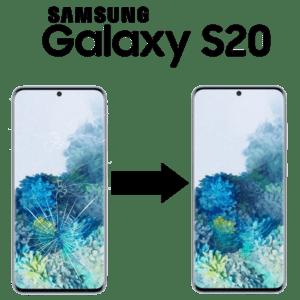 Výměna rozbitého skla Samsung Galaxy S20