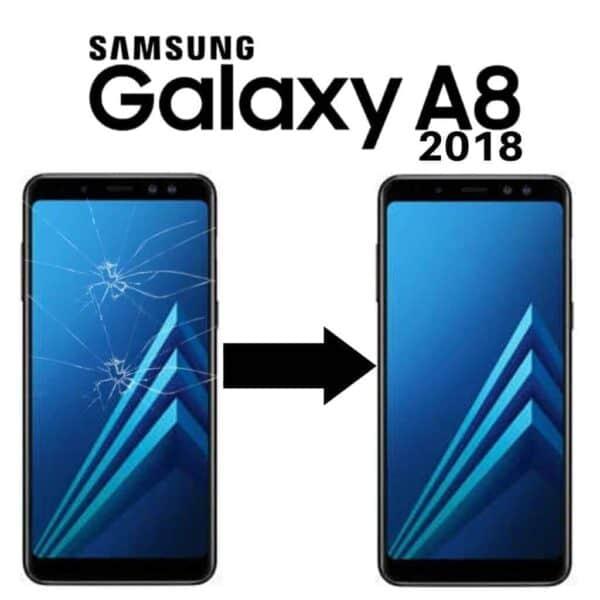 Výměna rozbitého skla displeje Samsung Galaxy A8 2018